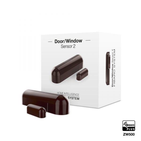 Dark Brown Fibaro Door Window Sensor 2
