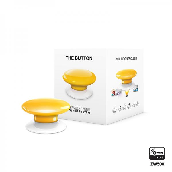 Yellow Fibaro Z Wave Button