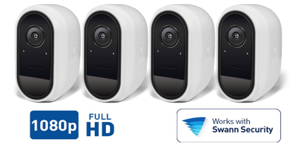 Smart Home Automation - 4 Swann WiFi Smart Security Cameras
