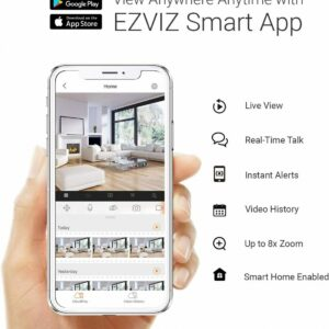 Smart Home Automation - Ezviz 4 Channel No HDD NVR with 4 x 2MP Wireless 1080p Cameras Security Kit
