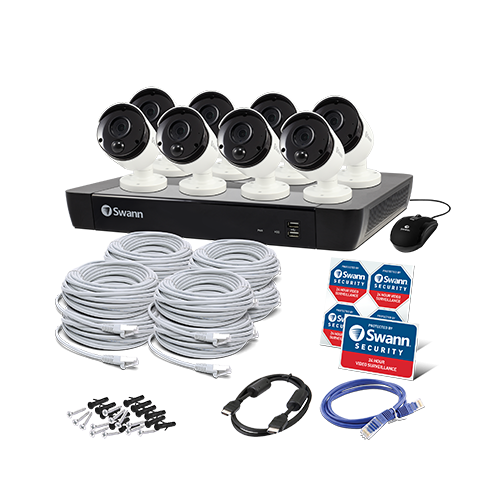 Smart Home Automation - Swann 8 Bullet Camera 16 Channel 4K Ultra HD NVR Security System