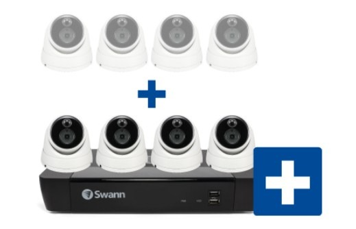 Smart Home Automation - Swann 8MP 4K 2x Bullet and 2x Dome Audio Cam with 8CH 2TB NVR