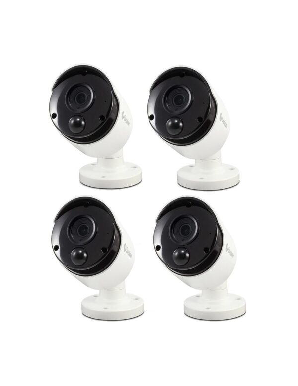 Swann 4x 5MP Super HD Thermal Audio Bullet Security Cameras