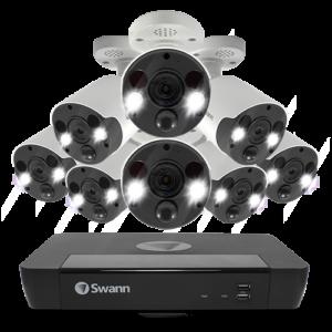 Swann 8 Spotlight Camera 16 Channel 4K Ultra HD NVR Security System