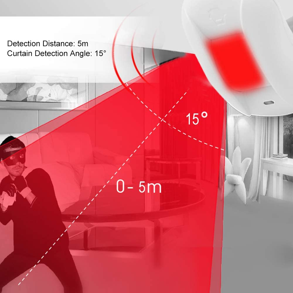 Smart Home Automation - Chuango Curtain PIR Motion Sensor