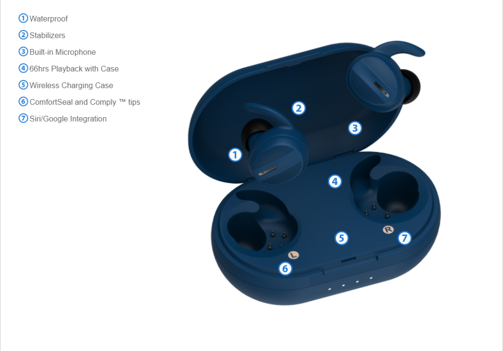 Smart Home Automation - BlueAnt Pump Air X Wireless Earbuds