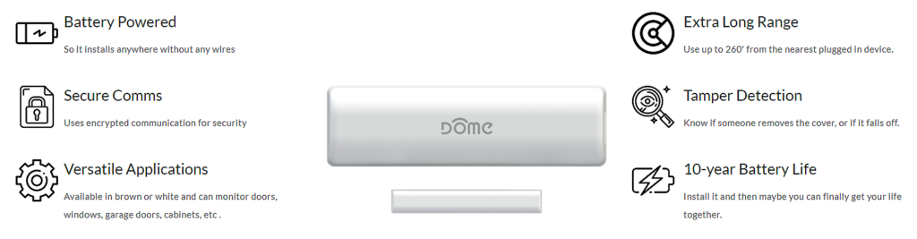 Smart Home Automation - DOME Z-Wave Pro Door Window Sensor