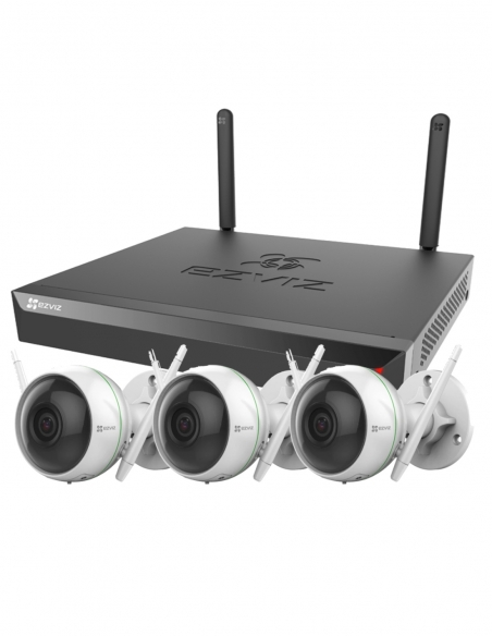 EZVIZ 3 x 1080P Wireless 2MP Camera with 4 Channel 1TB NVR Kit
