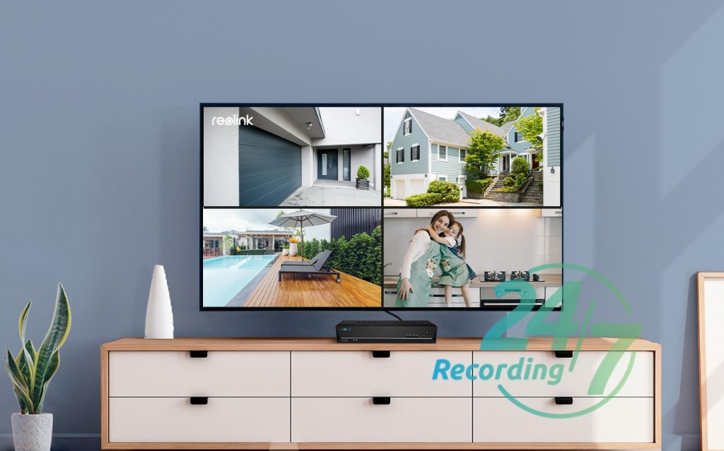 Smart Home Automation - Reolink 8x PoE Bullet Cameras 8MP 4K 16CH 3TB NVR System