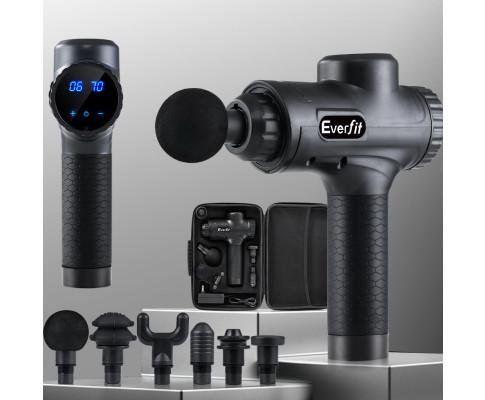Smart Home Automation - 30 Speed LCD 6 Head Deep Muscle Tissue Massage Gun
