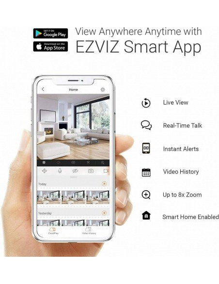 Smart Home Automation - Ezviz 8CH No HDD NVR with 4x 2MP Wireless 1080p Cameras Security Kit