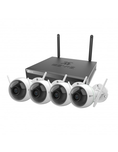 Ezviz 8CH No HDD NVR with 4x 2MP Wireless 1080p Cameras Security Kit