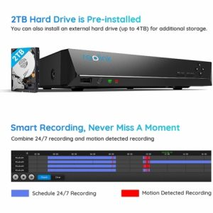 Smart Home Automation - Reolink 4K PoE 8CH NVR 2TB HDD Security Recorder