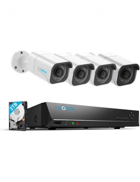 Reolink 4x PoE Bullet Cameras 8MP 4K 8CH 2TB NVR System