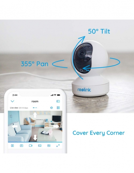 Smart Home Automation - Reolink 4MP E1 Pro Indoor Pan Tilt WiFi Camera