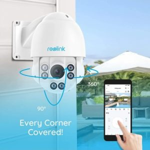 Smart Home Automation - Reolink 5MP Super HD PoE PTZ Dome Security Camera