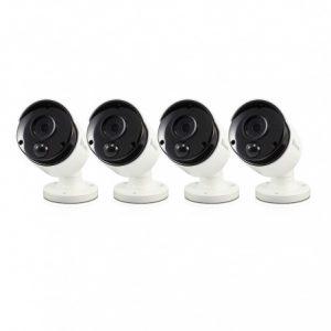 Swann 4x 1-Way Audio Facial Recognition 4K Bullet Cameras